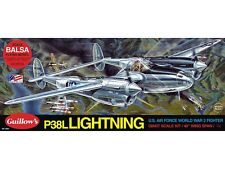GUILLOW'S- P-38 Lightning, Balsa Wood Model Plane Kit WW II Fighter   GUI-2001