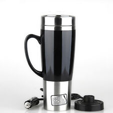 450ML 12V Heated Car Auto Stainless Steel Thermos Coffee Tea Cup Mug Bottle