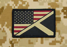 Subdued US/Scotland Stars & Stripes/St. Andrew's Flag Patch Saltire UKSF USSF