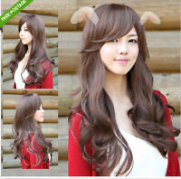 SALES Sexy Womens Girls Fashion Style Wavy Curly Long Hair Lady Full Wigs