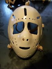 VINTAGE ORIGINAL FIBERGLASS GOALIE MASK FROM 1960's-1970's LOOKS SIMILAR HIGGINS