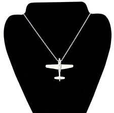Men's Stainless Steel  Alloy Aircraft Airplane Pendant Necklace