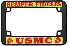 USMC MARINE CORPS PLASTIC MOTORCYCLE LICENSE PLATE FRAME - MADE IN THE USA!!