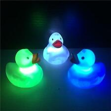 1X LED Light Toy for Kids Baby Bathroom Bath Tub Floating Duck Color Changing YZ