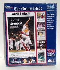 The Boston Globe BOSTON STRONGEST Red Sox  puzzle by White Mountain 550 pcs