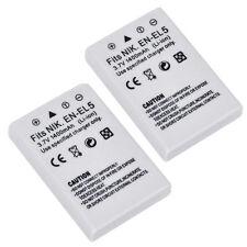 2X 1400mAh EN-EL5 Battery for NIKON COOLPIX P90 P100 P5100 P6000 S10