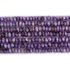 """0332 6mm A grade charoite rondelle loose beads 16"""""""