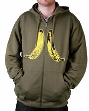 Wesc Banana's Icon Ivy Green Zip Up Hoodie XL Hooded Sweater NWT