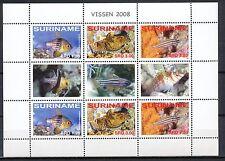 REPUBLIEK SURINAME POSTFRIS - VISSEN 13.FEBRUARI.2008 IN BRUGPAARVELLETJE Hk555m