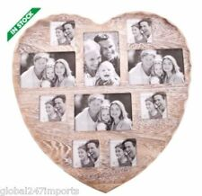 Shabby Chic Wall Heart 10 Photo Mutli Picture Frame Vintage Rustic Home Collage