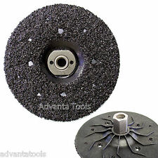 "7"" Silicon Carbide Abrasive Grinding Disk Wheel w/ 5/8""-11 Adapter – 16 Grit"