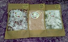 Bath Salts Variety Pack 3 x 200g - Re-sealable Bags - Himalayan Epsom Dead Sea