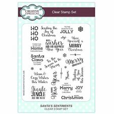 Creative Expressions Clear Stamps ~ Santa's Sentiments 25 stamps, CEC772