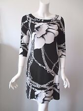 White House Black Market Flower Chain Prints Crew Neck Stretch Fit Dress XS