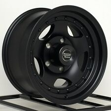 "15 inch Black Wheels Rims AR235773B 5 Lug 5x5 5x127 15x7"" American Racing AR23"