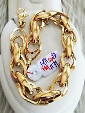 SOLID 18K Saudi Gold Chain Bracelet - 7 3/4 inches /  7.1g