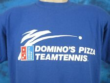 vintage 80s DOMINO'S PIZZA TEAM TENNIS BUTTERY SOFT T-Shirt MEDIUM skate thin