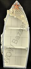 Display Boat with 3 Shelves Beach Theme with Fish Net and Star Fish / Shell 48cm