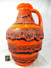 Cool 70´s design BAY Keramik pottery vase with a stunning Fat Lava glaze 67 45
