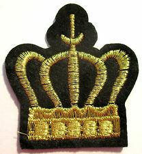 Krone Aufnäher / crown patch Aufbügler Applikation König king Kinder Bügelbild