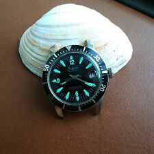 Vintage Sheffield Allsport Waterproof Divers/Diving Watch w/Super Fat Font Bezel