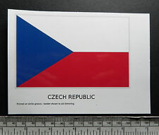"Czech Republic -  flag water-slide transfer 117 x 72 mm (4.1/2"" x 2.3/4"")"