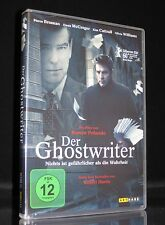 DVD DER GHOSTWRITER - Thriller PIERCE BROSNAN + EWAN McGREGOR + OLIVIA WILLIAMS