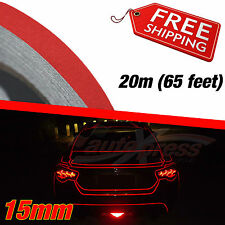 15mm x 20m 65ft REFLECTIVE Stripe Car DIY Decor TAPE Decal Vinyl Sticker RED
