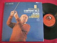 BEETHOVEN SYMPHONY NO. 5  CORIOLAN - REINER - RCA LSC-2343 LIVING STEREO 9S/8S