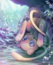POKEMON  ANIME MEW Art Image A4 Poster Gloss Print Laminated