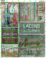1034 DAVE'S DECALS HO SODA POP BEER CIGARS ALES OLD BUILDING SIGNS ADVERTS