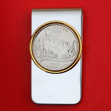 US 2006 Colorado State Quarter BU Uncirculated Coin Two Toned Money Clip New