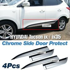Silver & Black Side Door Protect Molding 4Pcs For HYUNDAI 2010-2015 Tucson ix35