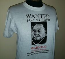 VTG 1980s Deng Xiaoping WANTED Chinese Leader ~ Soft Thin White T Shirt ~ Large