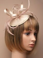 Large Champagne Headband Aliceband Hat Fascinator Wedding Ladies Day Race Ascot