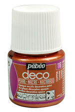 Pebeo Deco PEARL Multi-Surface Craft & DIY Acrylic Paint 45ml - New 17 Colours