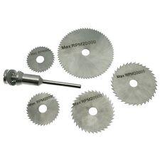 6PC HSS Steel Saw Cutting Disc Wheel Set Fits Rotary Mini Drills Cut Off Discs