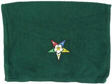 Order of the Eastern Star Forest Green Sports Rally Towel Free Mason Monogram