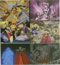 "THE SLAYERS (Comic Images/1995) UNCUT 6-UP SHEET of SIX DIFFERENT CARDS 7""X7.5"""