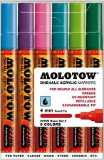 Molotow one 4 all 227 - 6 pièces dessin marqueur stylo set-basic set 2