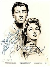 ROBERT TAYLOR AND ELANOR PARKER 8X10 SIGNED JSA LETTER OF AUTHEN. COA #Y78102