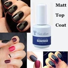 New 15 ml Vernis à Ongles Semi Permanent Nail Mat top coat à Mat Effet Manucure