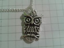 """TIBETAN SILVER """"OWL 1.2X2CM """"  PENDANT ON 18""""or 20""""INCHES CHAIN  NECKLACE"""
