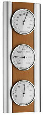 ANALOG WEATHER STATION TFA 20.1053.17 BEECH SILVER BAROMETER HYGROMETER AIR TIP