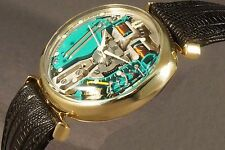 1961 Bulova Accutron Spaceview Assymetrical Solid 14K Yellow Gold Man's Watch