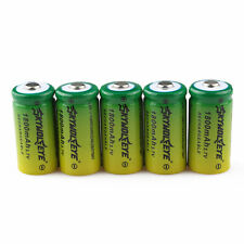 6pcs SKYWOLFEYE 16340 CR123A LR123A 3.7V 1800mAh Rechargeable Li-Ion Battery