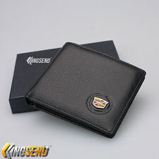 new CADILLAC Bifold Wallet Genuine Leather Mens Car Purse Credit Card Holder