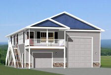 36x40 Apartment with 1-Car 1-RV Garage -- PDF Floor Plan -- 901 sq ft -- Model 1