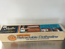 Original Sunline Indoor/Outdoor Retractable Clothesline 15-7  34 ft. New NIB