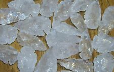 1 QUARTZ CRYSTAL ARROWHEAD FOR CRAFTS AND JEWELRY MAKING